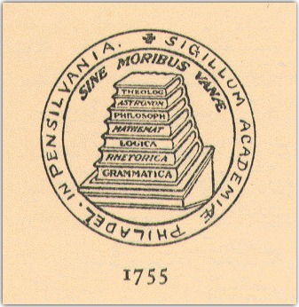Seal University of Pennsylvania 1755